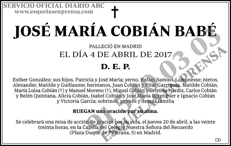 José María Cobián Babé